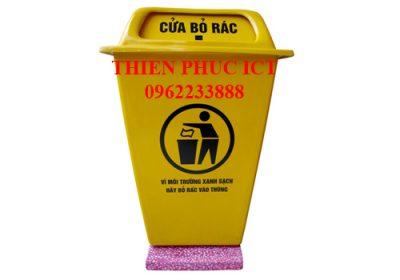 Thùng rác composite đặt cố định 60 L
