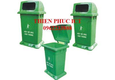 Thùng rác nhựa đặt cố định 95L