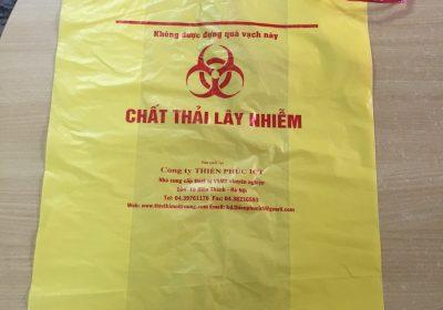 túi nilon rác thải lây nhiễm - màu vàng