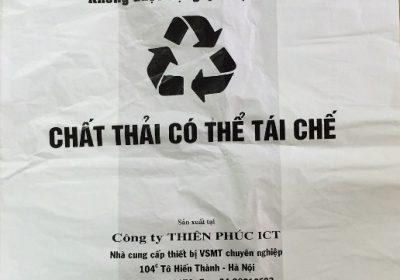 túi nilon rác thải tái chế - màu trắng