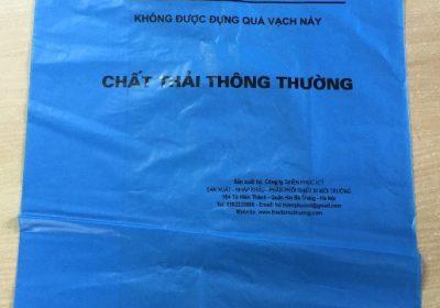 túi nilon rác thải thông thường - màu xanh