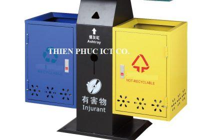 thùng rác đôi-ngoài trời-A58-B-ThienPhucict