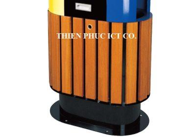 thùng rác đôi-ngoài trời-A78-E-THIENPHUC