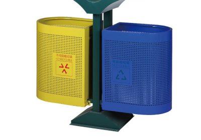thùng rác đôi-ngoài trời-A78-W
