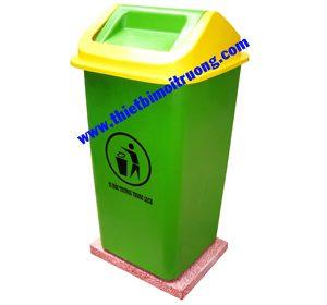 thùng rác đặt sân trường - composite 90L