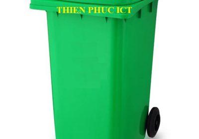 thùng rác đặt sân trường - nhựa HDPE 120L