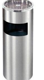 thùng rác inox trắng - gạt tàn - DDK-C610
