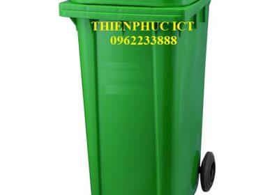 thùng rác trường học-240L-xanh