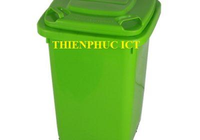 thùng rác trường học - 70L-xanh
