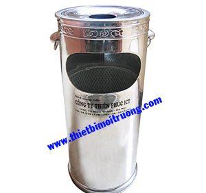 thùng rác trường học - inox gạt tàn 22L