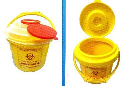 thùng rác y tế - đựng bông băng- găng tay 5 lít