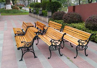 TP - ghế gỗ ngoài trời -chân gang đúc